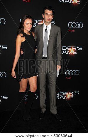 LOS ANGELES - OCT 28:  Alyssa Riley, Nick Simmons at the