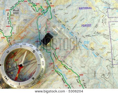 Brújula de mapa