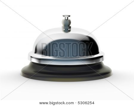 Service Bell On White Background