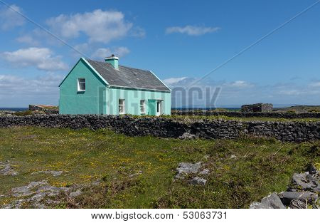 Typical Rural Farming Cottage Ireland
