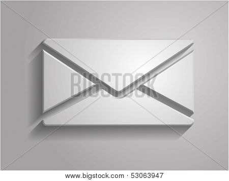 3d Vector illustration of letter icon