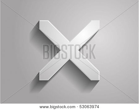 3d Vector illustration of prohibit icon