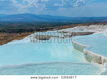 Hot Springs And Cascades At Pamukkale In Turkey