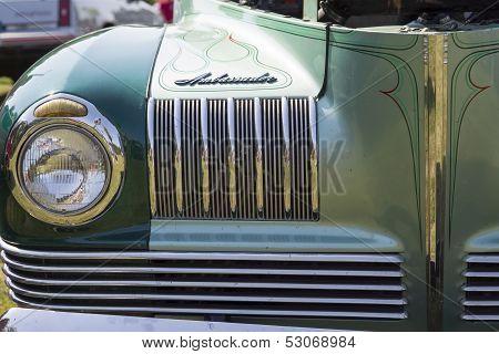 1941 Nash Ambassador Aqua Blue Car Close up