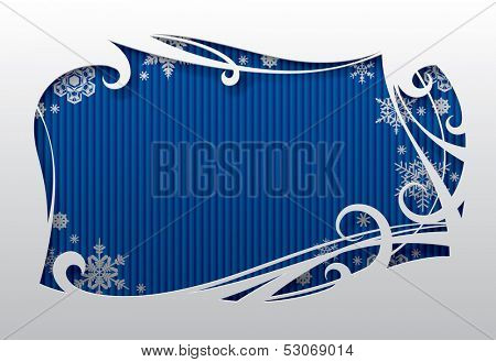 Vector Christmas and New-Year's greeting card with snowflakes