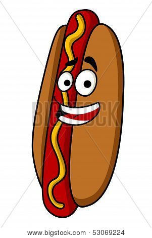 Appetizing hot dog with mustard