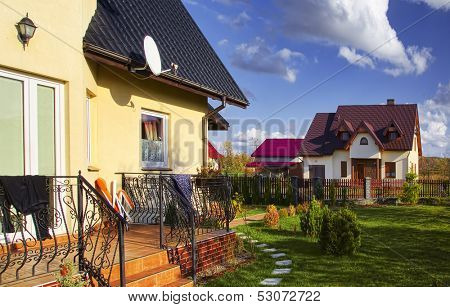 Residential house in the suburbia