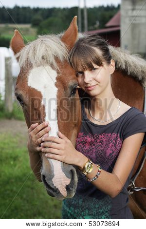Teenager With Horse