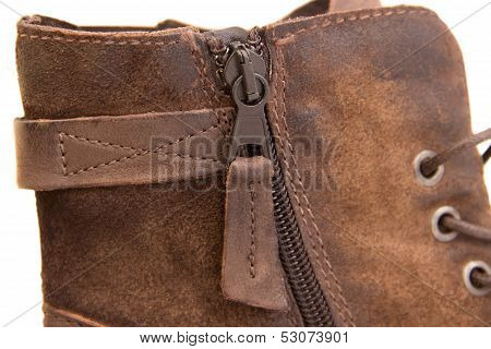 Shoe Zipper Close Up