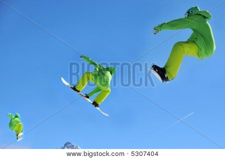 Snowboard Jump Sequence