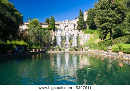 Big Fountain In Tivoli Italy