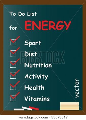 Vector eps concept or conceptual white health or sport chalk text word cloud tagcloud as blackboard background