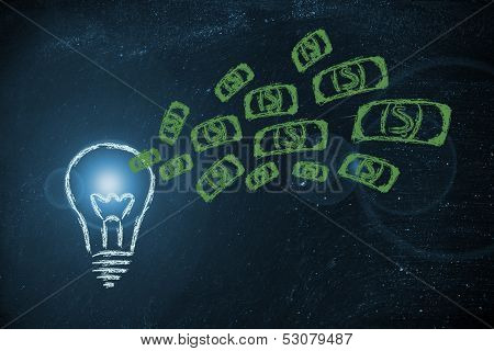 Conceptual Image Of A Winning Profitable Idea