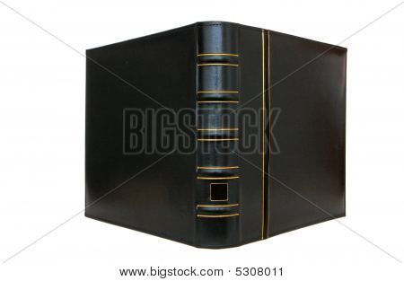Thick Black Book Cover Vertical Isolated