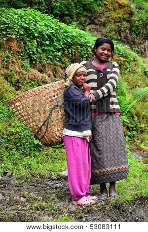 Gurung Ethnic Women In The Himalayas