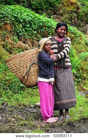 Gurung Ethnic Women In The Himalayas
