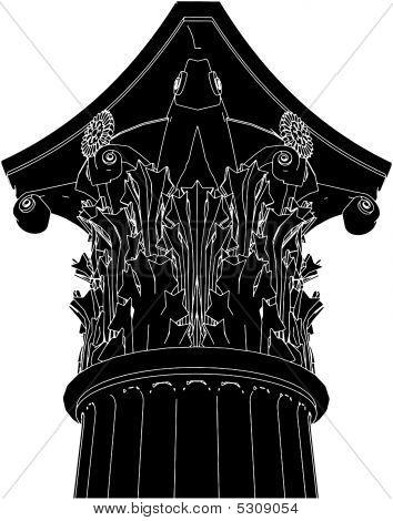 griechische korinthischen Spaltenvektor