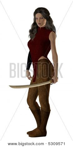 Woman Holding A Sword