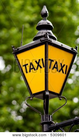 Taxi Post With Clipping Path