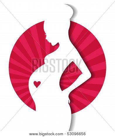 Pregnant woman's silhouette