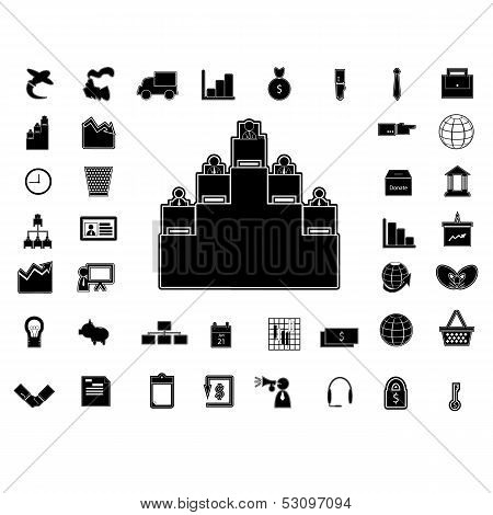 40 Business Icon  Silhouette Isolated.