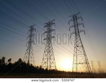 macht Turm Sonnenaufgang
