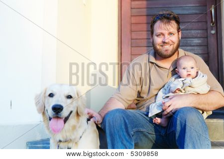 Father, Son And Dog