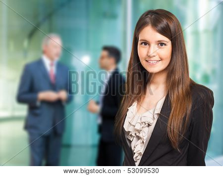 Portrait of a smiling businesswoman