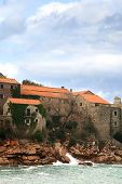 image of former yugoslavia  - The historic island of Sveti Stefan in Montenegro - JPG