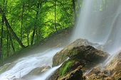 stock photo of swabian  - The waterfall of Bad Urach - JPG