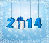 stock photo of happy new year 2014  - Happy new year 2014 - JPG