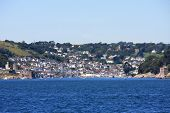 picture of dartmouth  - town of Dartmouth Devon from the sea - JPG