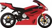 Постер, плакат: Красный спортивный мотоцикл