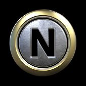 picture of letter n  - 3D alphabet - JPG