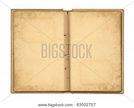 Open Photo album With Ribbon For Photos On The Isolated White Background