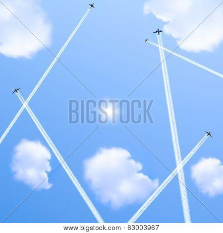 Five planes.