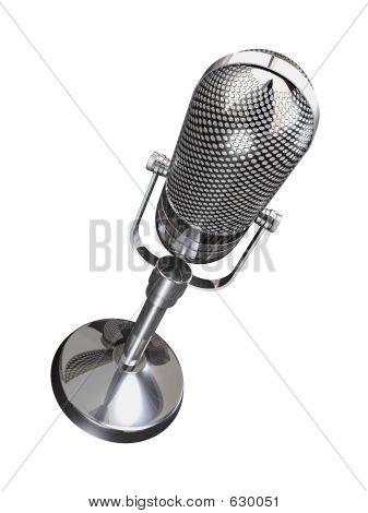 Microfone retrô redonda