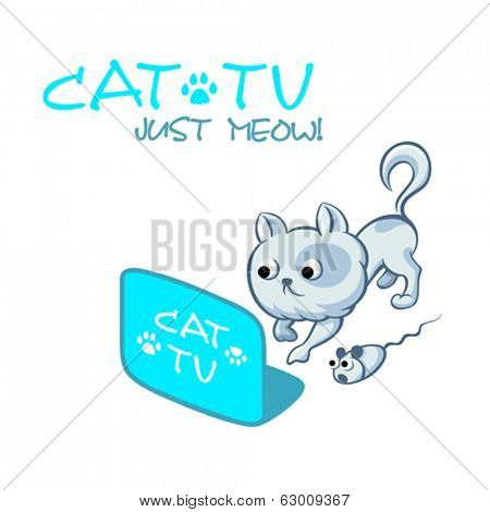 Astonishing and thrilling TV channel for cats and mouses