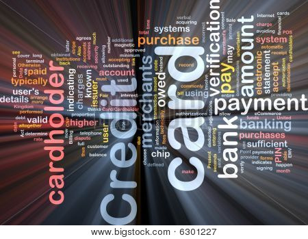 Credit Card Word Cloud Box Package