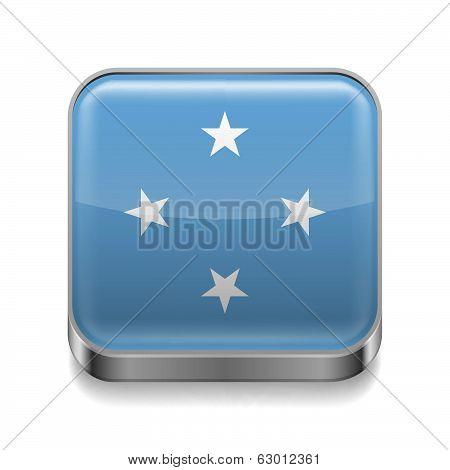 Metal  icon of Micronesia