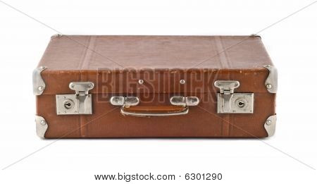 Travel  - Old-fashioned Scratched Suitcase (trunk)