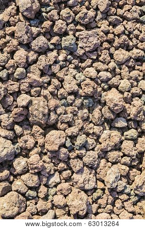 Volcanic Slag At The Foot Of A Volcano