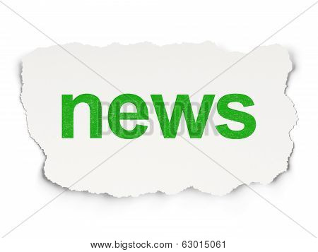 News concept: News on Paper background