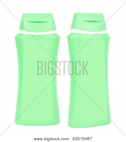 Shampoo Green Containers Isolated