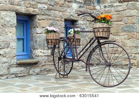 Old Bicycle In Greece