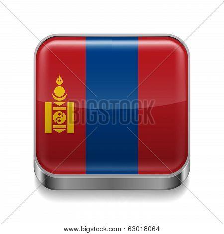 Metal  icon of Mongolia