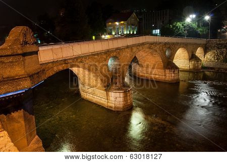 Bridge In Sarajevo, Bosnia And Herzegovina