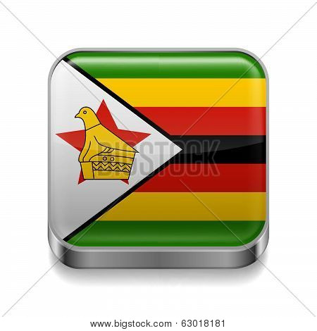 Metal  icon of Zimbabwe