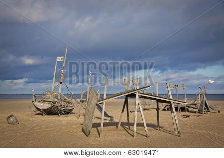 Playground On The Beach In Travemuende