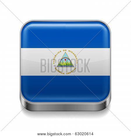 Metal  icon of Nicaragua